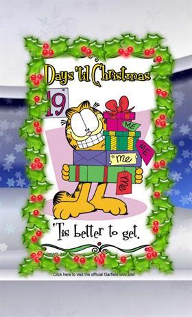 Christmas countdown with Garfield
