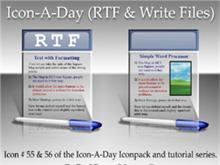 Icon-A-Day #55 & #56 (RTF & Write)