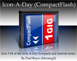 Icon-A-Day # 84 (CompactFlash)