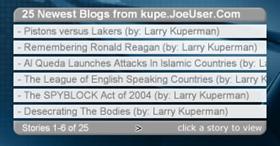 Joe User Blog Reader