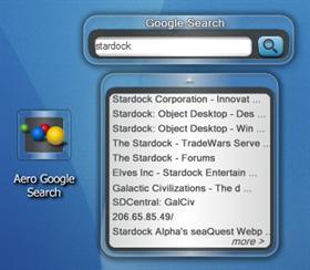 Aero Google Search