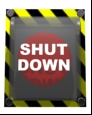 Shut down button by Orhun