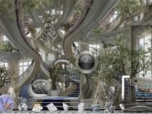 Escalier de l'hotel de ville de Versailles