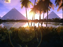 Morning at the Pyramids