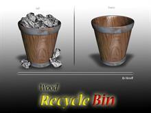 Wood Recycle bin