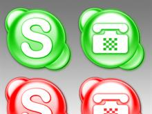 Skype Messenger Dock Icons