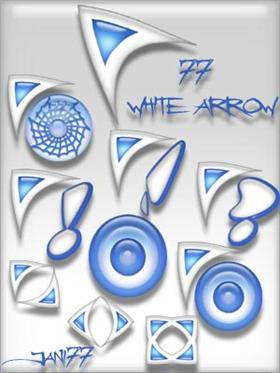 77 white arrow
