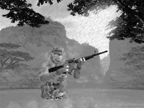 Metal Gear Soild 3 in Black ands White