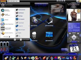 My Desktop (Black &amp; Blue)