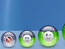 smiley battery meter