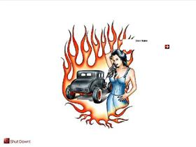 Flame,Roadster,Woman.