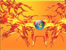 Vista Burn Yellow widescreen