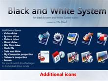 Black and White System additional icon set