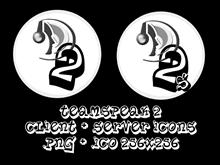 TeamSpeak 2 Client + Server Icons