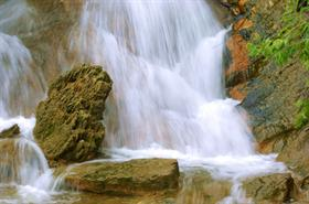 Rocks And Falling Water