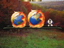 """FIREfox Globe"" Animated+Png"