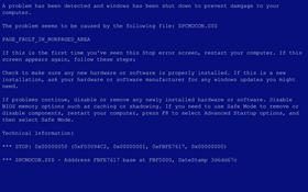 Blue Screen of Death Screensaver