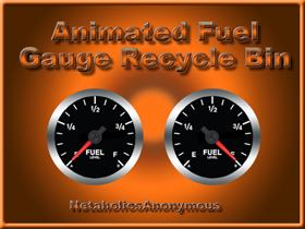 Animated Fuel Gauge Recycle Bin