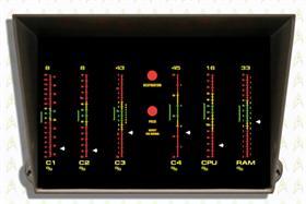 Star Trek Original CPU/MEM Meter