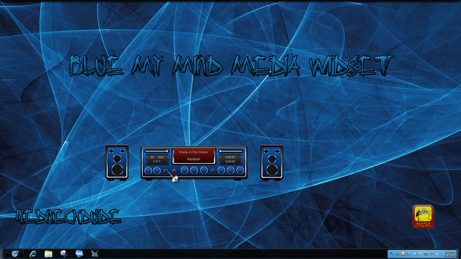 Blue My Mind Media Player Widget