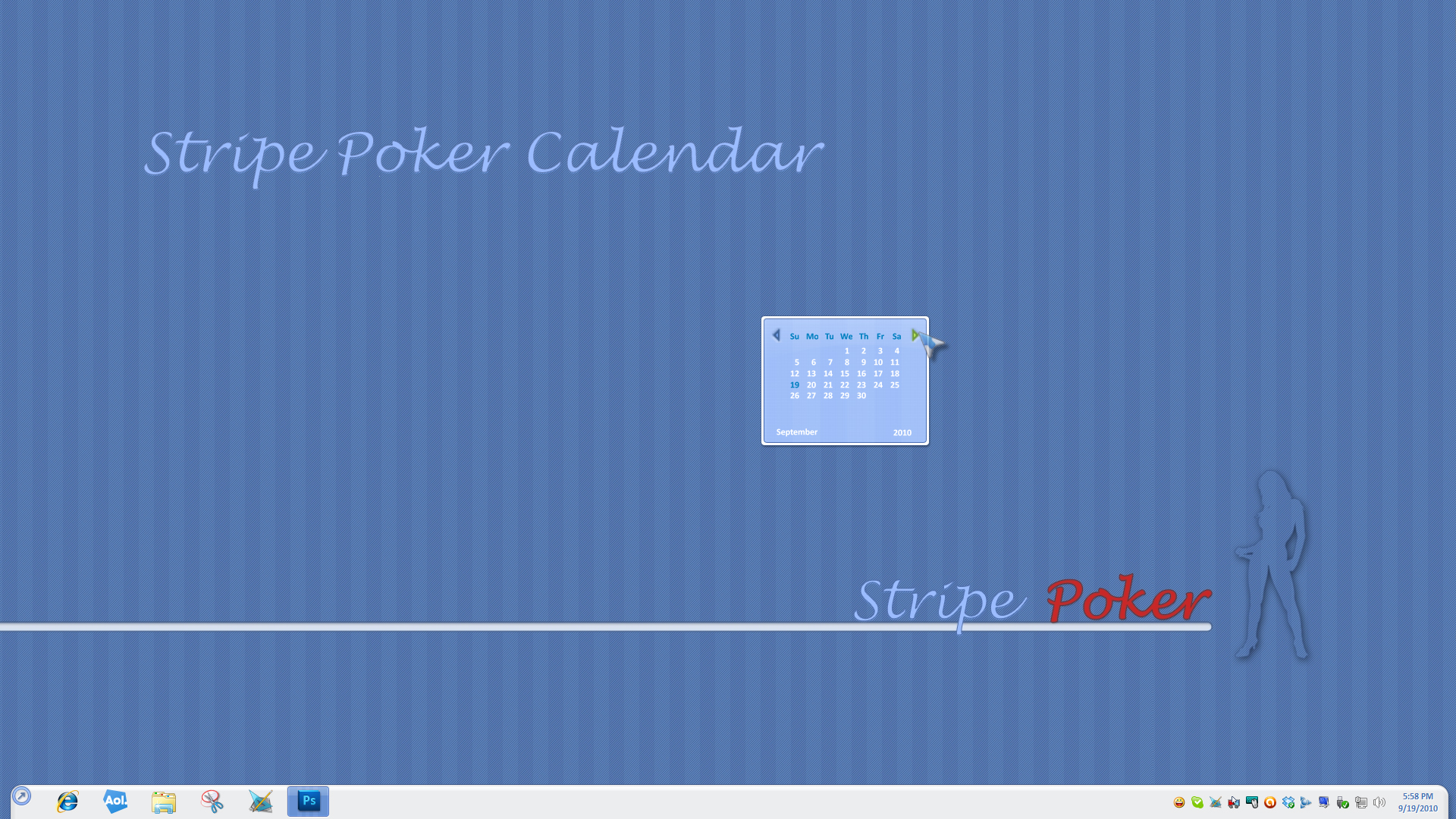 Stripe Poker Calendar Widget