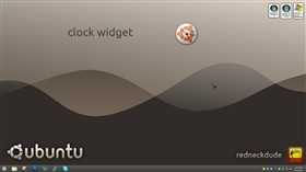 ubuntu 11 clock widget