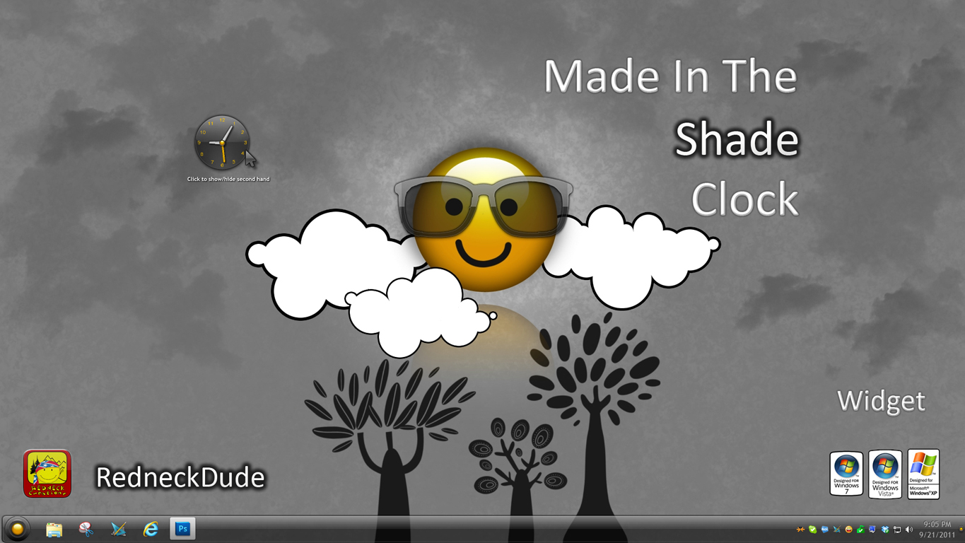 Made In The Shade Clock Widget