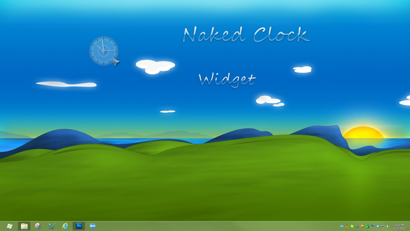 Naked Clock Widget