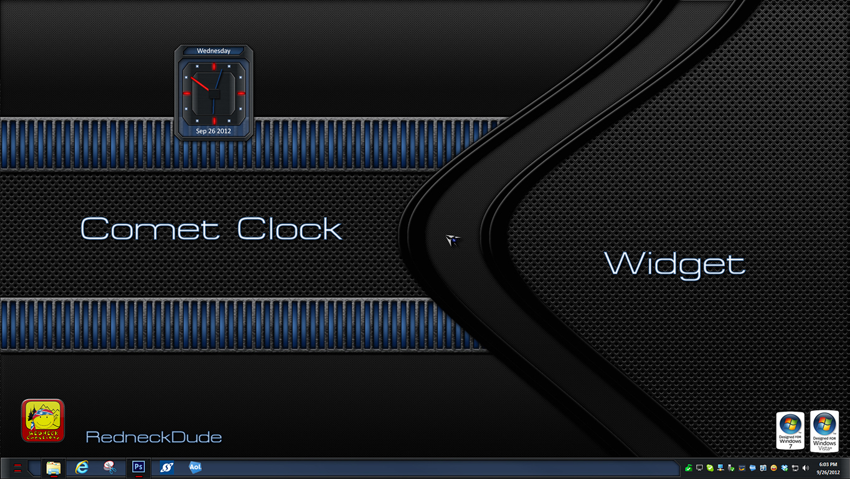Comet Clock Widget