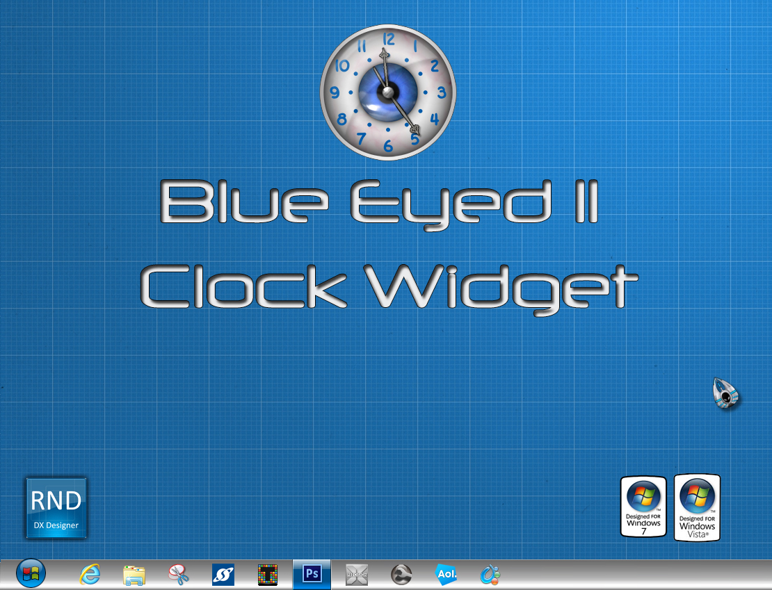Blue Eyed II Clock Widget