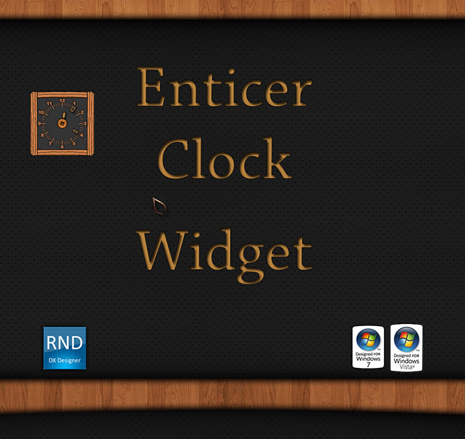 Enticer Clock Widget