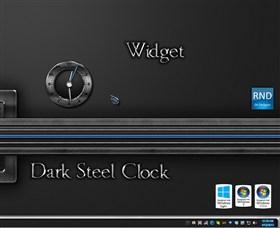 Dark Steel Clock Widget