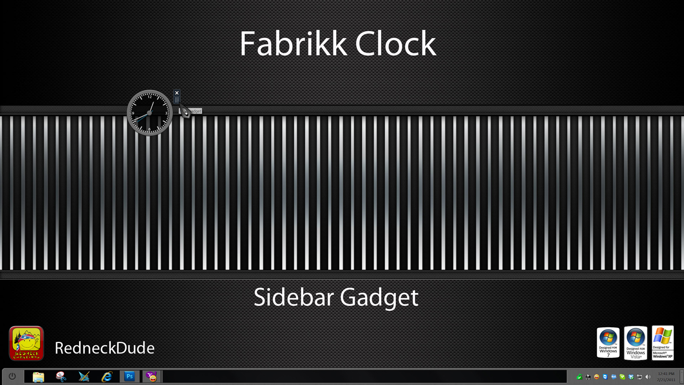 Fabrikk Clock Sidebar Gadget