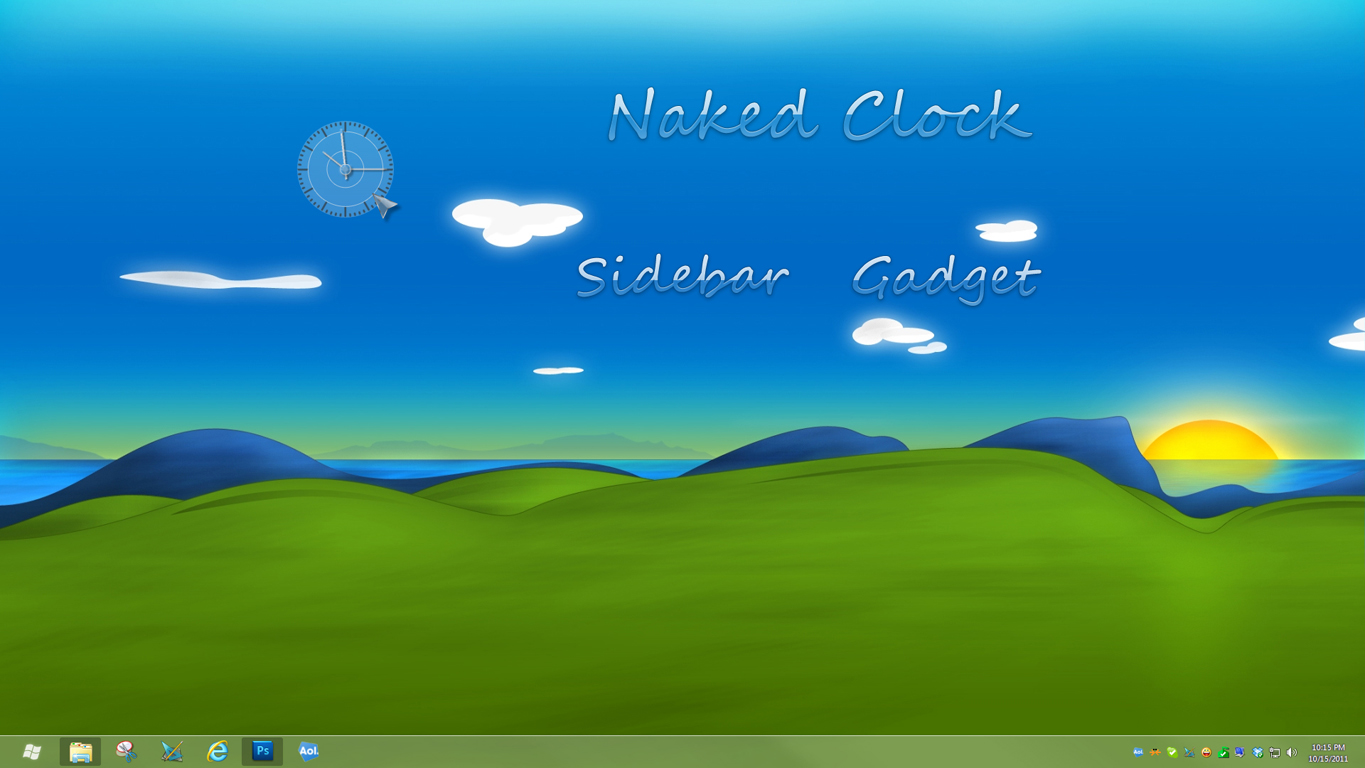 Naked Clock Sidebar Gadget