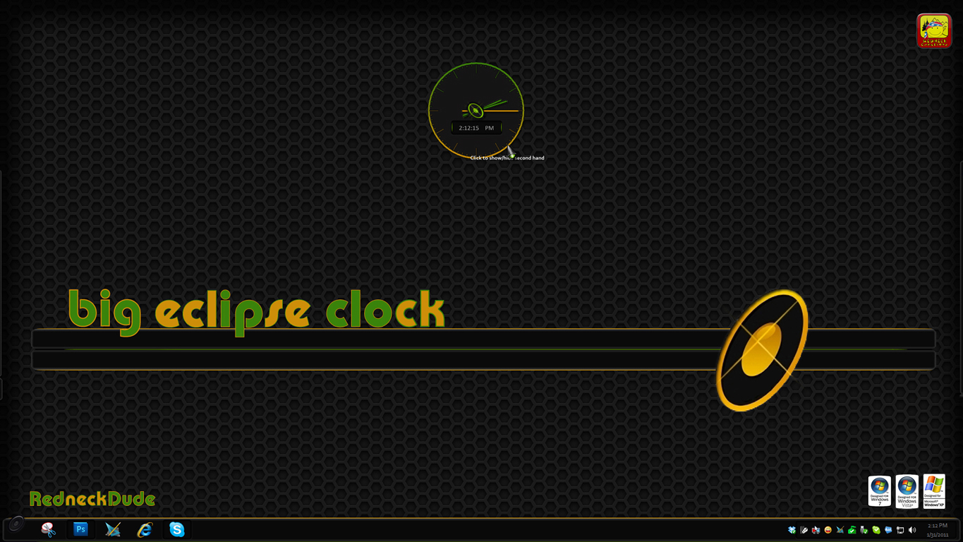 Eclipse Clock Gadget