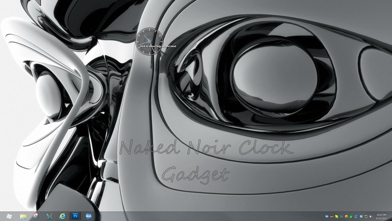 Naked Noir Clock Gadget