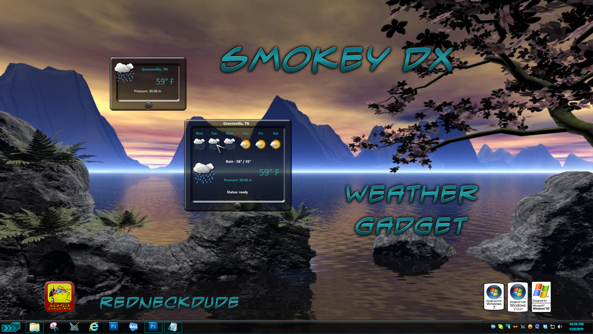 Smokey DX Weather Gadget