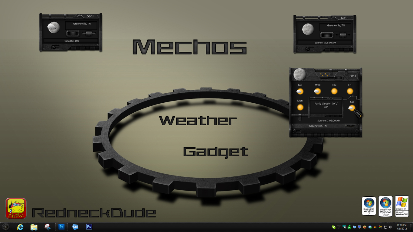 Mechos Weather Gadget