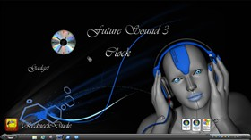 Future Sound 3 Clock Gadget