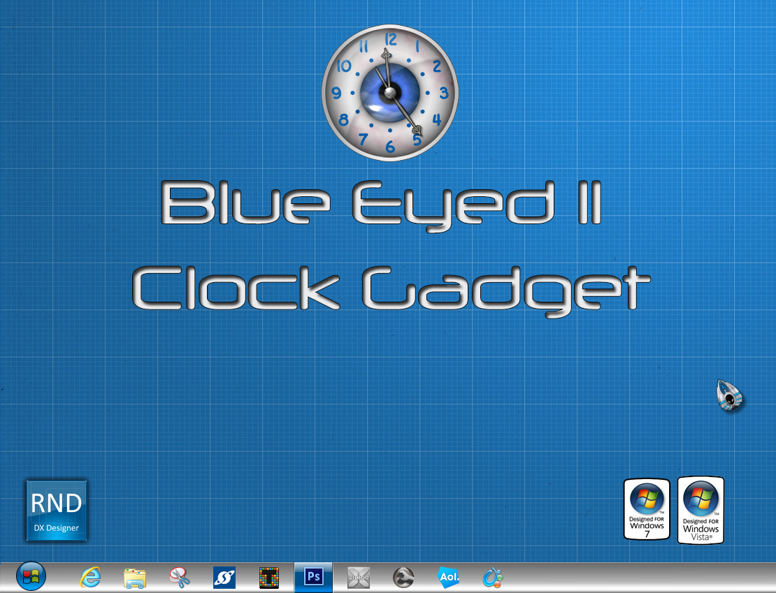 Blue Eyed II Clock Gadget