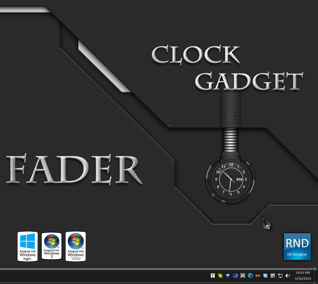 Fader Clock Gadget