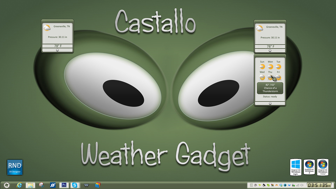 Castallo Weather Gadget