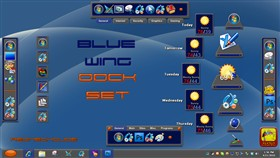 Blue Wing Dock Set