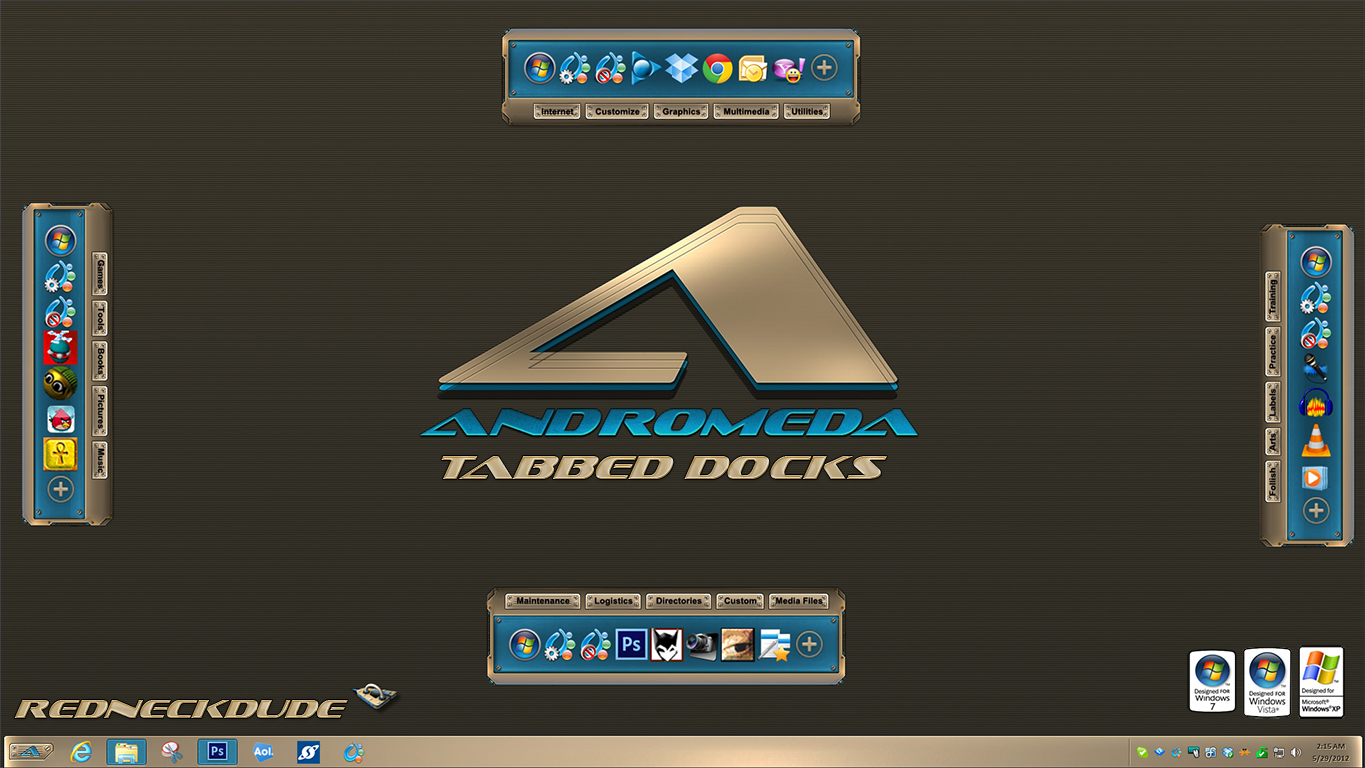 Andromeda Tabbed Docks
