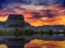HDR Sunset Reflections