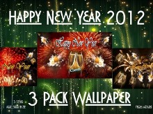 Happy New Year Wall 3pk