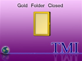 Gold Closed Folder