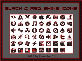 Black C_red_Shine_Icons