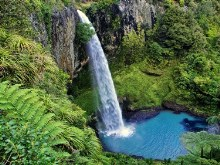 bridal veil fall new zealand