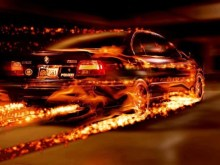 Flaming BMW
